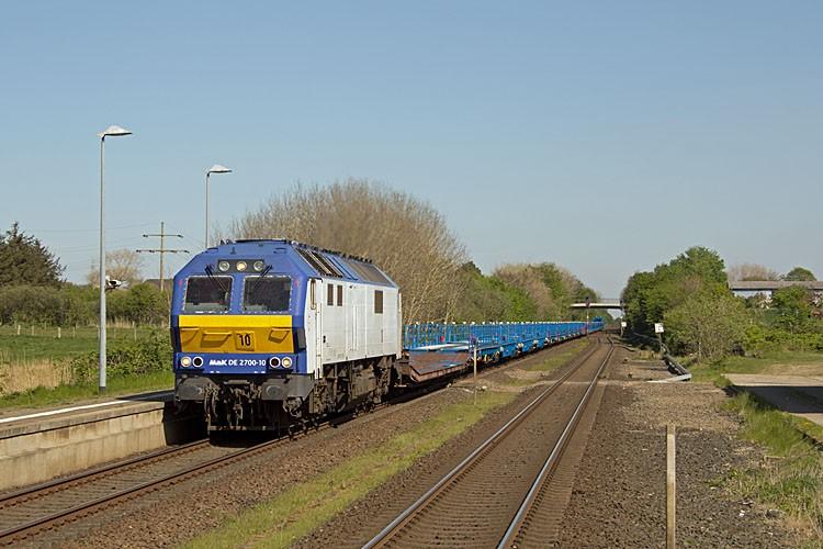 Ein Testzug des RDC Autozug Sylt in Morsum. Foto: N. Johannsen