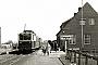 """DWK 176 - EPG """"T 54"""" 30.04.1963 - Pewsum, BahnhofW.J.F. van der Kuijlen (Archiv Ludger Kenning)"""