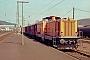 """MaK 1000245 - HEG """"V 32"""" 25.04.1988 - Bad Hersfeld, BahnhofFrank Edgar"""