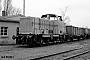 """MaK 1000254 - NIAG """"3"""" 23.02.1978 - Rheinberg-Orsoy, Bahnhof HafenKarl-Heinz Sprich (ILA Dr. Barths)"""