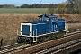 """MaK 1000376 - DB Fahrwegdienste """"212 329-7"""" 10.02.2014 Wustermark-Priort [D] Norman Gottberg"""
