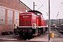 """MaK 1000648 - DB """"290 373-0"""" 31.10.1976 - Duisburg-Wedau, Bahnbetriebswerk? (Archiv Beller)"""