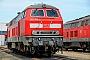 """MaK 2000111 - DB Autozug """"218 389-5"""" 25.07.2014 - Niebüll, WerkstattJens Vollertsen"""