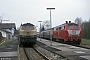 """MaK 2000115 - DB """"218 393-7"""" 04.04.1991 - Lengries, BahnhofArchiv Ingmar Weidig"""