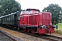 """MaK 220028 - Graf MEC """"D 12"""" 25.06.2016 - Osterwald, ÖlbahnhofNils vor der Straße"""