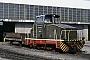 """MaK 600342 - DE """"D 6"""" 16.02.1981 - Dortmund, Bahnbetriebswerk TankwegStefan Lauscher (Archiv Ludger Kenning)"""