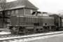 """MaK 800141 - BE """"D 6"""" 18.12.1970 - Nordhorn, BahnhofJoachim Petersen (Archiv Ludger Kenning)"""